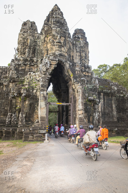 October 10, 2017: Siem Reap, Angkor, gateway to Angkor Thom, former capital of the size of Manhattan