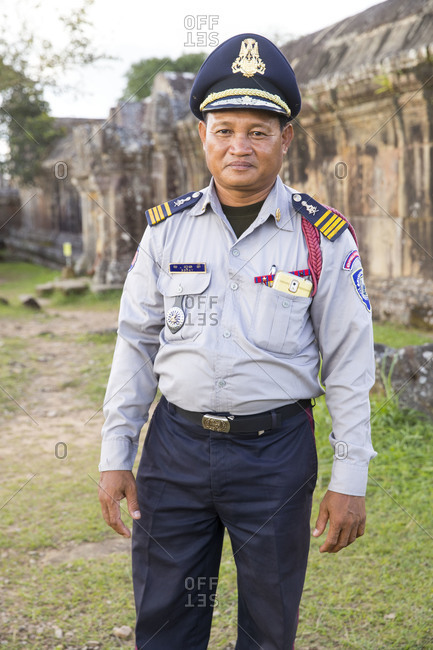 October 8, 2017: Temple Preah Vihear, a temple on a mountain plateau, formerly Thai territory, today belongs to Cambodia, the temple is guarded by military