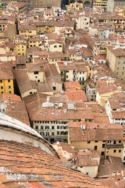 May 1, 2018: Florence, view from the cathedral, old town