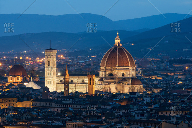 Florence, cathedral during the blue hour