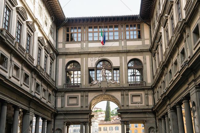 April 30, 2018: Florence, Galleria degli Uffizi