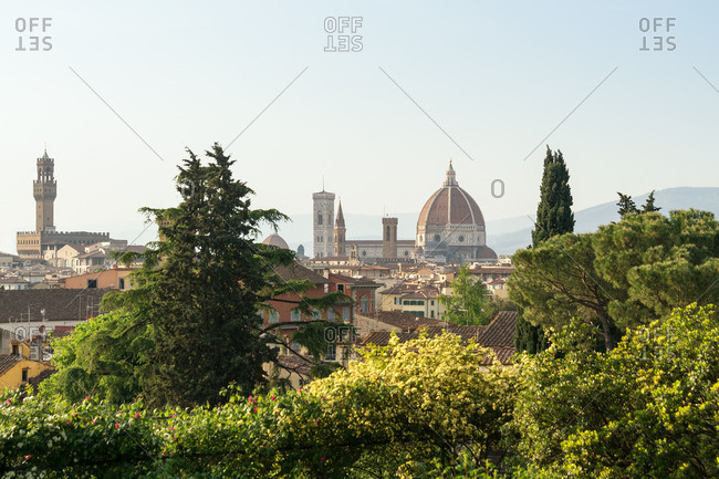 Florence, Giardino delle Rose, view to the old town
