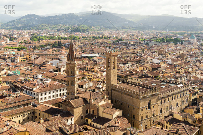 Florence, Palazzo Vecchio, view from the tower to the Museo Bargello
