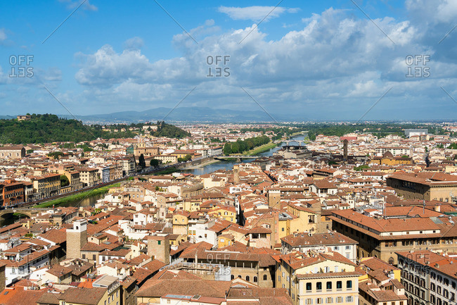 Florence, Palazzo Vecchio, tower ascent, view to the west