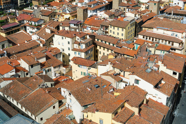 Florence, Palazzo Vecchio, tower climb, roofscape