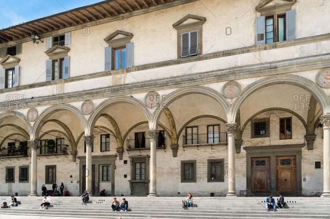 April 30, 2018: Florence, Piazza di Santissima Annunziata