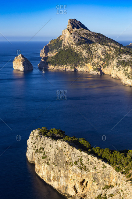 Formentor peninsula, northeast of the island of Mallorca, Mediterranean Sea, Balearic Islands, Spain, Southern Europe