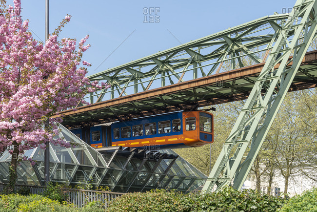 April 21, 2018: Germany, North Rhine-Westphalia, Wuppertal, the suspension railway was opened on 1 March 1901