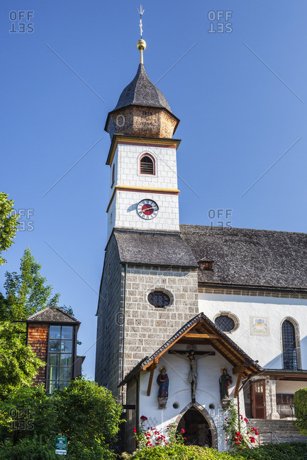 July 4, 2015: Pilgrimage church Maria Eck in Siegsdorf, Chiemgau, Upper Bavaria, Bavaria, Southern Germany, Germany, Europe