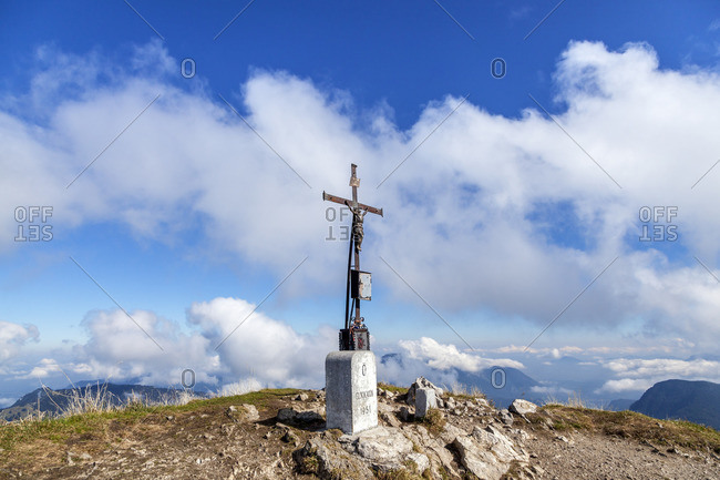 Summit of the Sonntagshorn (1961 m), Ruhpolding, Chiemgau Alps, Chiemgau, Upper Bavaria, Bavaria, Southern Germany, Germany, Europe