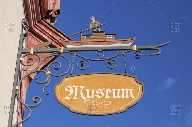 May 10, 2015: Museum in the historic market square Neubeuern, Chiemgau, Upper Bavaria, Bavaria, Southern Germany, Germany, Europe