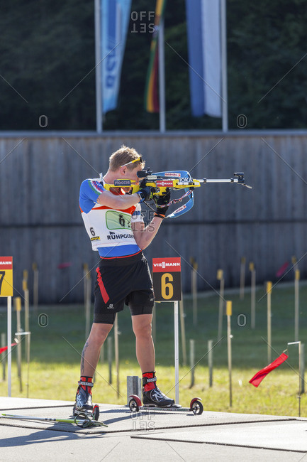 September 12, 2015: German Biathlon Championship, Relay in the Chiemgau-Arena, Ruhpolding, Chiemgau, Upper Bavaria, Bavaria, Germany
