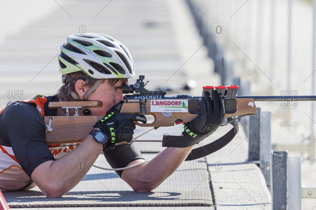 September 12, 2015: German Biathlon Championship, Relay in the Chiemgau Arena, Ruhpolding, Chiemgau, Upper Bavaria, Germany