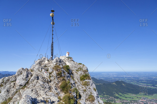 Summit of the Kampenwand, Chiemgau, Chiemgau Alps, Upper Bavaria, Bavaria, southern Germany, Germany