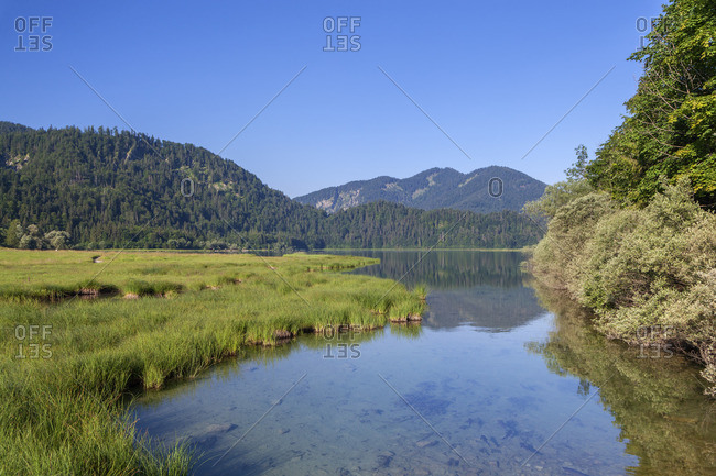 Weitsee between Ruhpolding and Reit im Winkl, Chiemgau Alps, Chiemgau, Upper Bavaria, Bavaria, southern Germany, Germany, Europe
