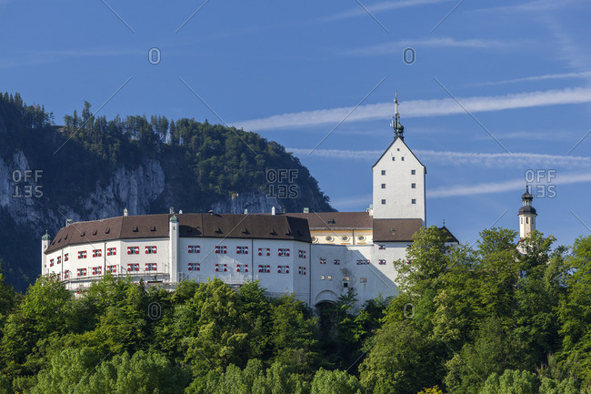Castle Hohenaschau, Aschau, Chiemgau, Upper Bavaria, Bavaria, southern Germany, Germany, Europe