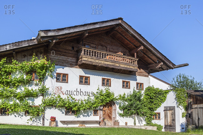 June 12, 2015: Restaurant Rauchhaus in Seeon, Seeon-Seebruck, Chiemgau, Upper Bavaria, Bavaria, Southern Germany, Germany, Europe