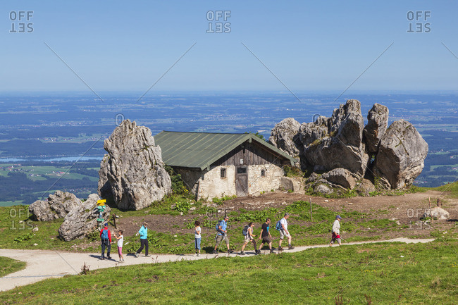 Steinlingalm below the Kampenwand, Aschau, Chiemgau Alps, Chiemgau, Upper Bavaria, Bavaria, southern Germany, Germany