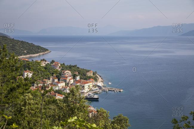 View of Valun, Island of Cres, Kvarner Bay, Croatia