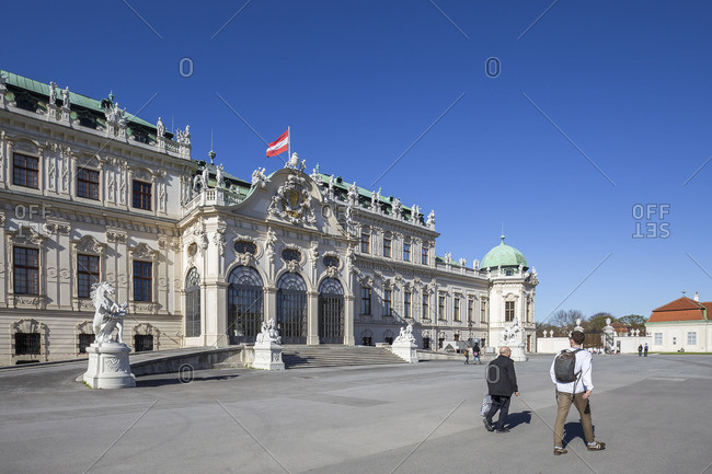 April 13, 2018: Upper Belvedere, Vienna, Austria, Europe