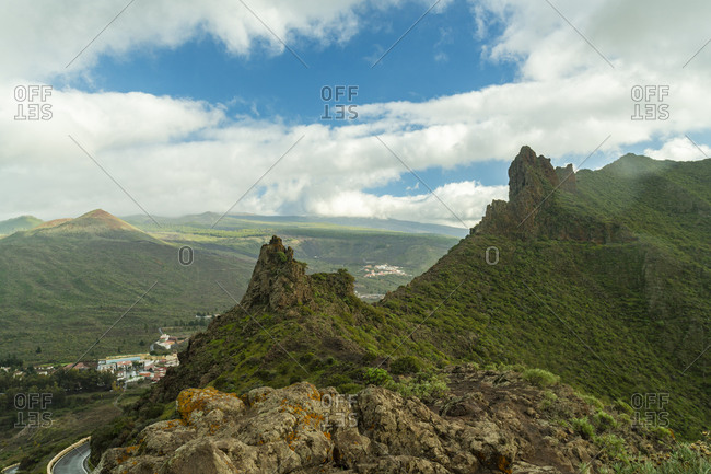 View point Mirador de Cherfe in the south of Tenerife in winter
