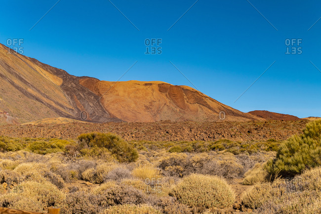 El Teide National park with clouds on high altitude