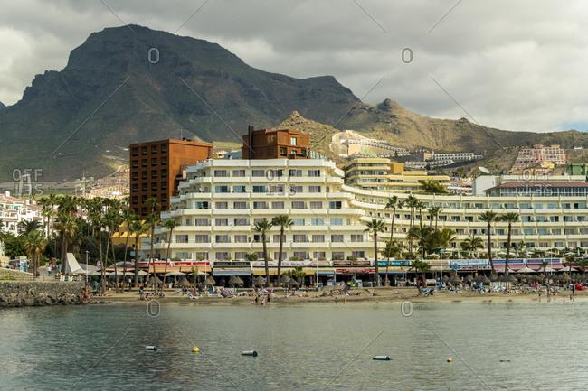 Santa Cruz de Tenerife, CN, Spain - December 16, 2016: Tourist resorts at Costa los Gigantes