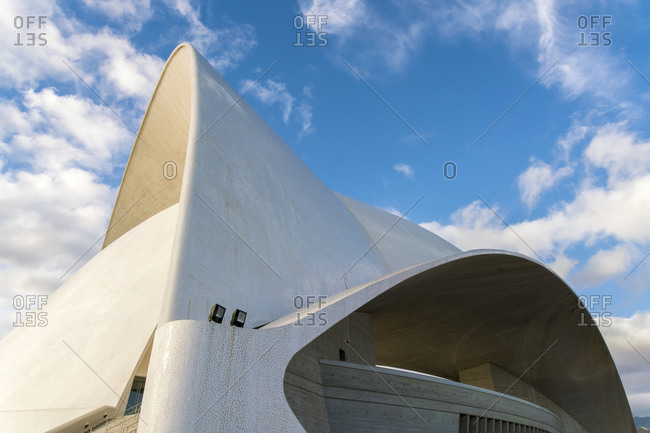 Santa Cruz de Tenerife, CN, Spain - December 15, 2016: The Auditorio de Tenerife Adan Mart�n architecture details