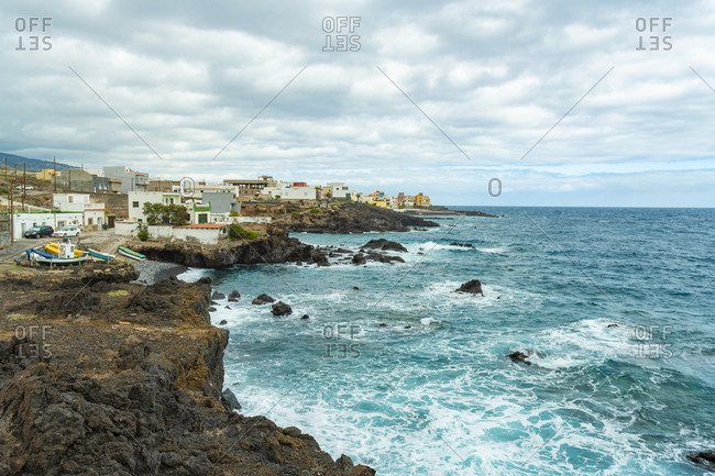 Cliff beach Playa de las Carretas in Tenerife