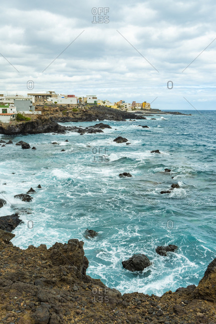 cliff beach tenerife Playa de las Carretas