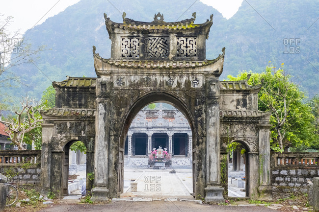Hoa Lu, Ninh Bahn Province, Vietnam - February 11, 2015: Den Thai Vi Temple, Ninh Binh Province, Vietnam