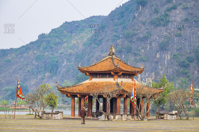 Hoa Lu, Ninh Bahn Province, Vietnam - February 12, 2015: Pagoda at Hoa Lu, Ancient Capital of Vietnam