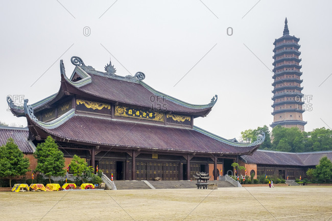 Gia Vien, Ninh Bahn Province, Vietnam - February 13, 2015: Bai Dinh Temple, Ninh Binh Province, Vietnam
