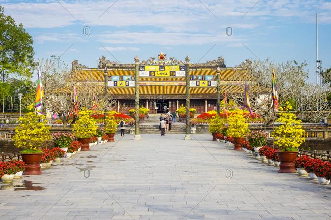 Hue, Thua Thien Hue, Vietnam - February 23, 2015: Thai Hoa Palace, Imperial City, Hue, Vietnam