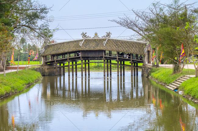 Thanh Toan Bridge, Japanese bridge in Thuy Thanh village, Hue, Vietnam