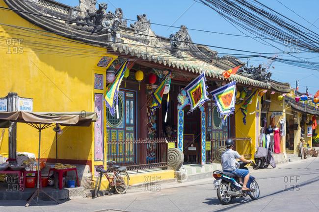 Hoi An, Quang Nam Province, Vietnam - February 28, 2015: Chua Ong Pagoda, Hoi An, Vietnam