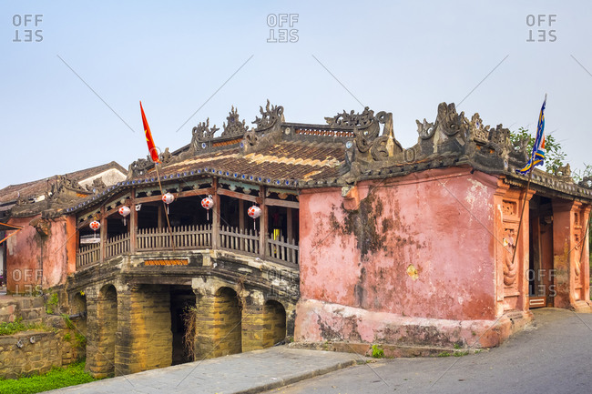 Hoi An, Quang Nam Province, Vietnam - March 4, 2015: Japanese Covered Bridge, Hoi An, Vietnam