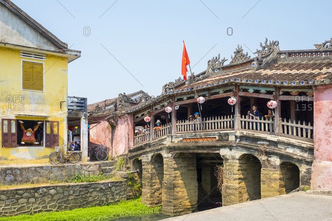 Hoi An, Quang Nam Province, Vietnam - March 6, 2015: The Japanese Covered Bridge in Hoi An ancient town
