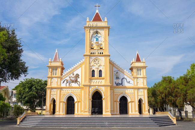 Kon Tum, Kon Tum Province, Vietnam - March 7, 2015: Tan Huong Church, Kon Tum, Vietnam