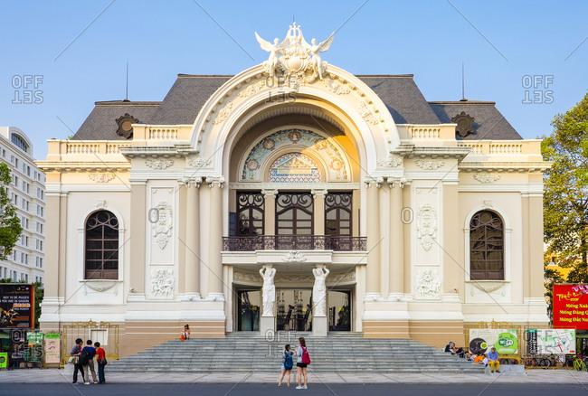 Ho Chi Minh City, Vietnam - March 22, 2015: Saigon Opera House (Municipal Theatre), Ho Chi Minh City, Vietnam