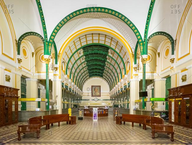 Ho Chi Minh City, Vietnam - March 21, 2015: Saigon Central Post Office, Ho Chi Minh City (Saigon), Vietnam