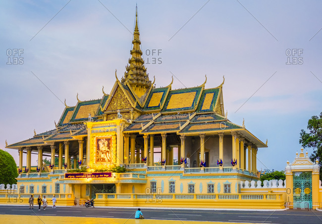Phnom Penh, Cambodia - April 3, 2015: Moonlight Pavilion of the Royal Palace, Phnom Penh, Cambodia