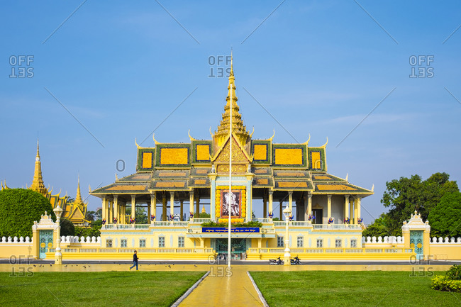 Phnom Penh, Cambodia - April 6, 2015: Moonlight Pavilion of the Royal Palace, Phnom Penh, Cambodia