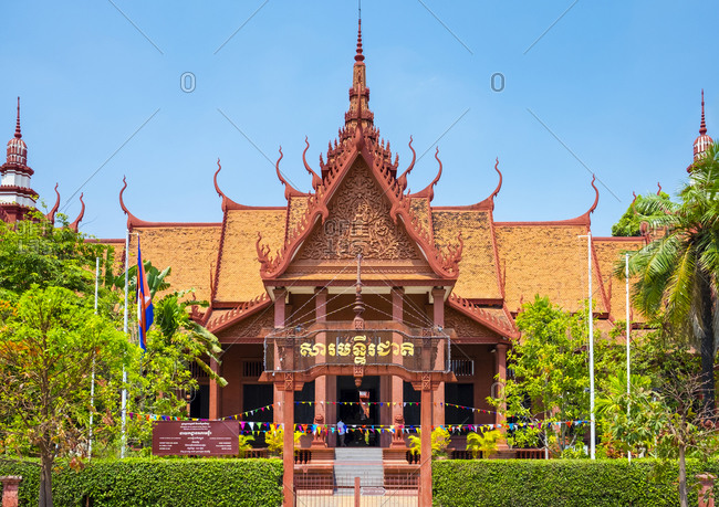 Phnom Penh, Cambodia - April 7, 2015: National Museum of Cambodia, Phnom Penh, Cambodia