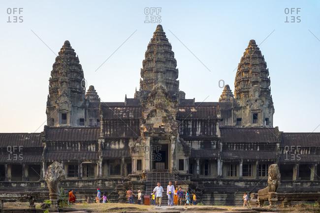 Krong Siem Reap, Siem Reap Province, Cambodia - April 17, 2015: Angkor Wat, Siem reap, Cambodia