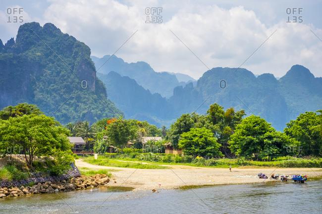 Nam Song River and Karst landscape in Vang Vieng