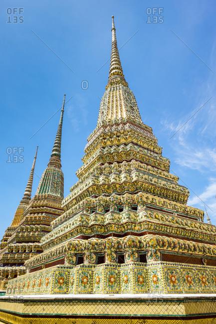 Stupas at Wat Pho (Temple of the Reclining Buddha), Bangkok, Thailand