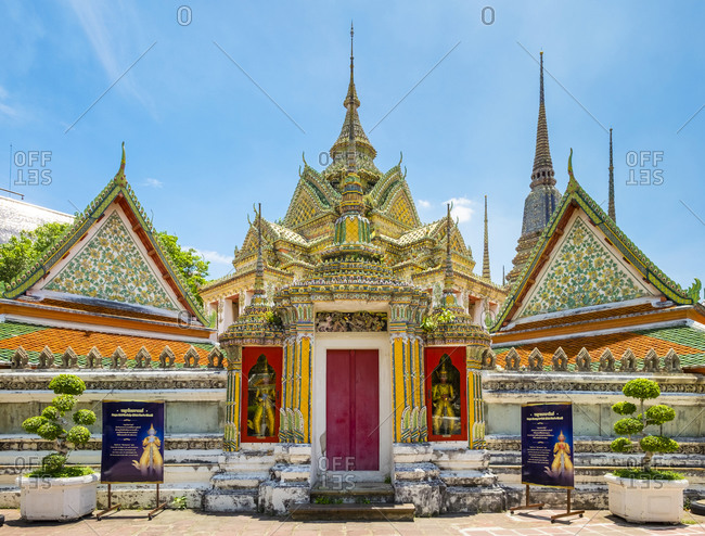 Bangkok, Thailand - May 19, 2015: Wat Pho (Temple of the Reclining Buddha), Bangkok, Thailand