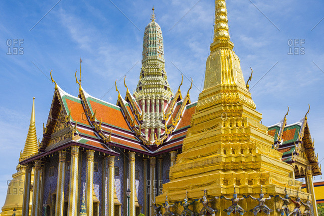 Golden Stupa at Temple of the Emerald Buddha (Wat Phra Kaew)