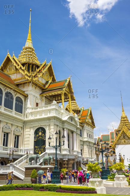 Bangkok, Thailand - May 21, 2015: Phra Thinang Chakri Maha Prasat throne hall, Grand Palace, Bangkok